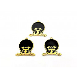 10pcs girl charms  lady charms gold 3806