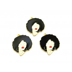 10pcs girl charms  lady charms gold 3808