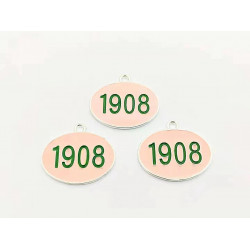 #10pcs letter/number charms -1908