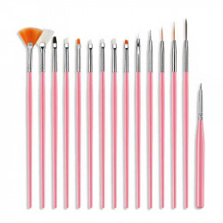 10 sets of nail beautify brushes 3D brushes, each set 15pcs