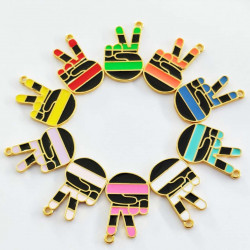 10pcs hand yeah charms