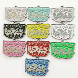 10cs letter charms  black 2692