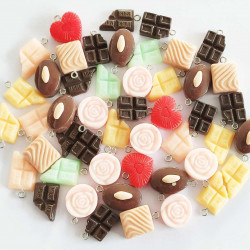 100pc food chocolate charms 2910 picked at random