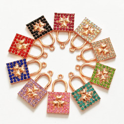 20pcs purse charms rose gold 120