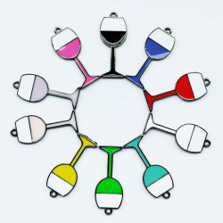20pcs wine glasses black 002