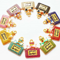 10PCS perfume CHARMS GOLD 1336