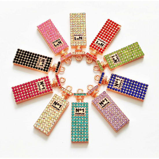 10PCS small PERFUME CHARMS rose gold 1442