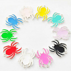 30pcs spider charms 2494