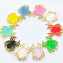 30pcs spider charms 2495