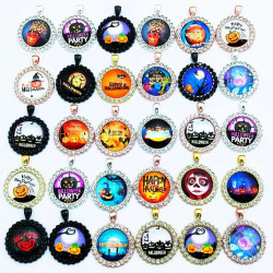 50pcs halloween charms-round shape 2556