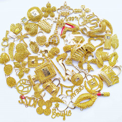 50PCS MIXED DELICATE GIRLS CHARMS 34 picked at random