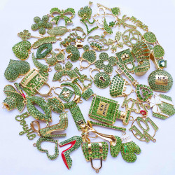 50PCS MIXED DELICATE GIRLS CHARMS 33 picked at random