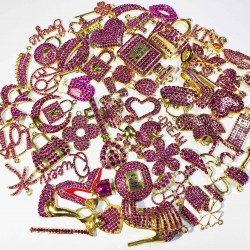 50PCS MIXED DELICATE GIRLS CHARMS 35 picked at random