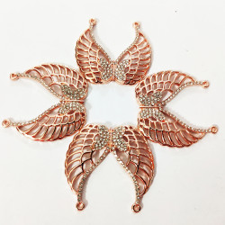 10PCS  BUTTERFLY  CHARMS-Rose Gold