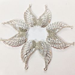 10PCS  BUTTERFLY  CHARMS Silver