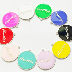 10pcs mixed & colorful round charms 1386