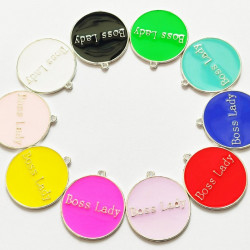 10pcs mixed & colorful round charms 1389