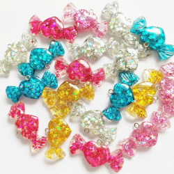 100pc mixed candy charms 1460 picked at random