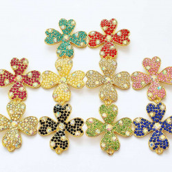 10pcs flower charms gold 1525