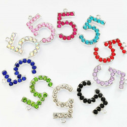 10pcs number 5 charms 2239