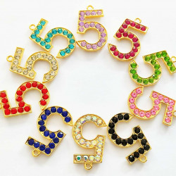 10pcs number 5 charms 2240