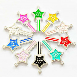 10PCS KEY CHARMS silver 2252