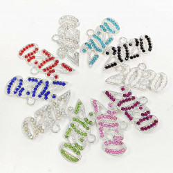 10PCS NUMBER CHARMS 2020