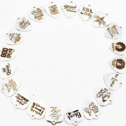 30PCS STAINLESS STEEL CHARMS-COLORFUL LIFE
