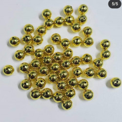 100pcs copper beads in 10mm gold