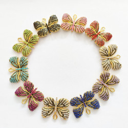 10PCS butterfly charms 01 gold