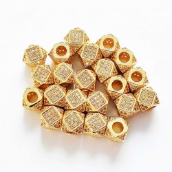 10PCS  CZ  CROWN BEADS SPACER 2296