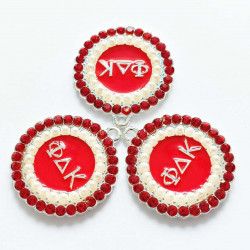 10pcs round CHARMS LETTER charms 2347