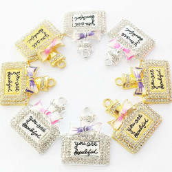 10PCS PERFUME CHARMS gold & silver